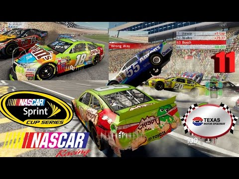 NASCAR'15 The Game: Texas Motor Speedway Best Extreme Longer Crash Compilation 11