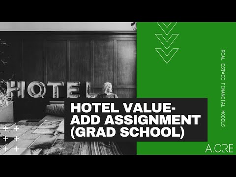 Value-Add Hotel Investment Model in Excel