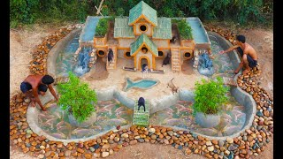 Rescue Fish From dry Up Place & Build Fish Pond Around Puppy's Villa