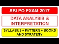SBI PO 2017 :  Aptitude and Data Interpretation & Analysis Syllabus | Strategy | Books