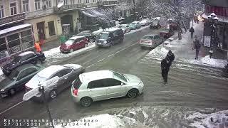 Фото Веб камера Одеса 🔴 Катерининська вулиця В Одесі випав сніг - колапс Odessa ONLINE ᴴᴰ