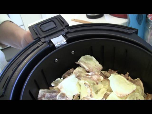 Making Yam Chips with Oil-less Air Fryer
