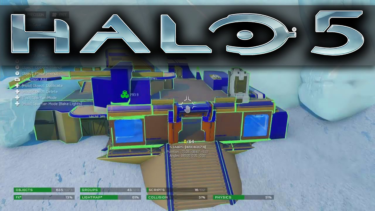FULL Halo 5 Forge Reveal - Scripting, Grouping, Lighting and More ...