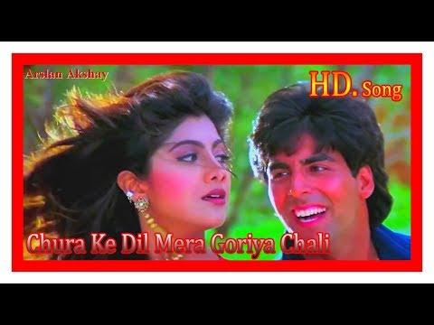 ChuraKe Dil Mera Goriya Chali Song HD 1080 Movie  Main Khiladi Tu Anari