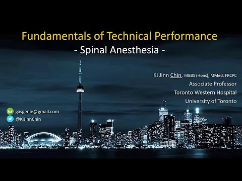 Successful Spinal Anesthesia / Epidural / Lumbar Puncture - Fundamentals Of Technique