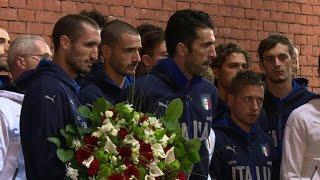 Italy football team pays tribute to Heysel Stadium victims
