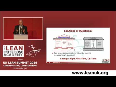 UK Lean Summit 2016 - Learning and the Lean Transformation Framework - David Brunt, LEA