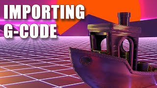 How to import G-Code into Blender and Animate it printing