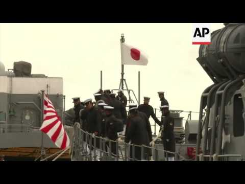 First visit by Japan's naval ships to Myanmar since World War II