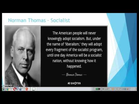 Norman Thomas 1932 Campaign Speech