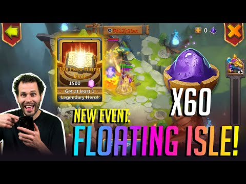 New Floating Isle Event 70000 Gems Hero Rolls Castle Clash
