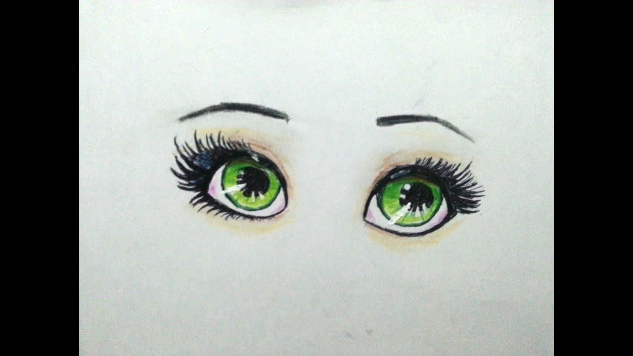 تعلم رسم عيون انمي How To Draw Eye Anime Youtube
