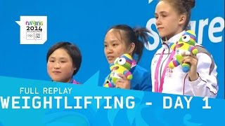 Weightlifting - Jiang Wins Gold for Hosts | Full Replay | Nanjing 2014 Youth Olympic Games