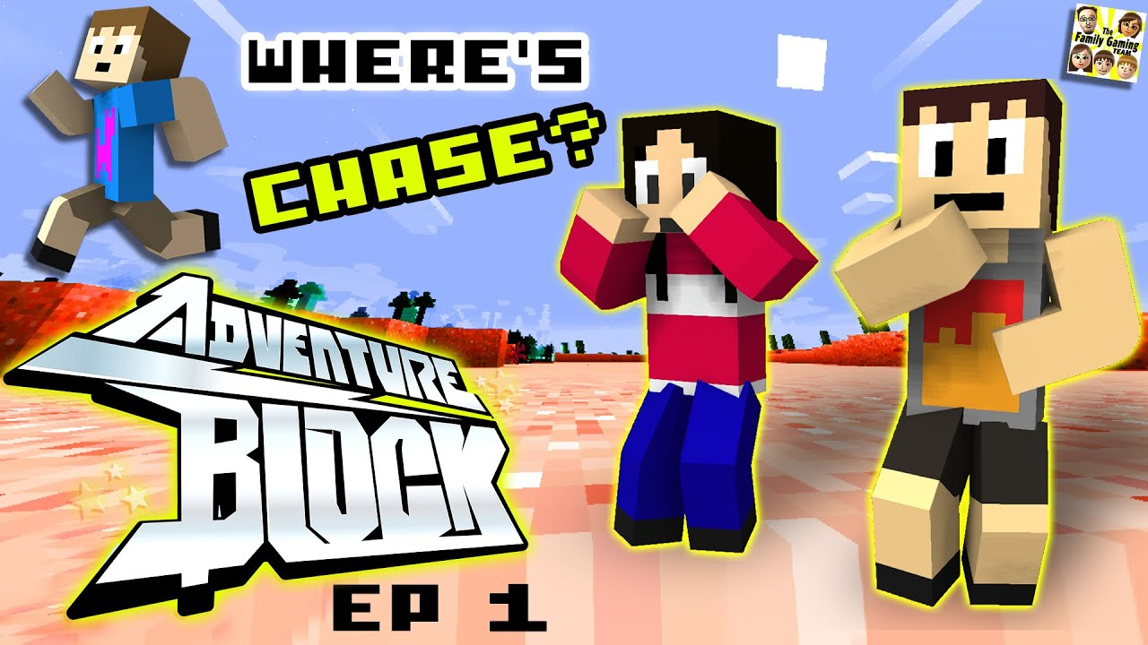 Adventure Block - Episode 1 - WHERES CHASE? (Season 1 | FGTEEV MINECRAFT MINI-SERIES SHOW)