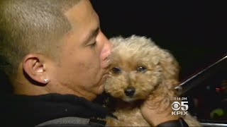 HAPPT REUNION: Hayward man is reunited with his service dog that had been taken by a thief