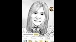 "Playing with ""MomentCam Cartoons & Stickers"" App"