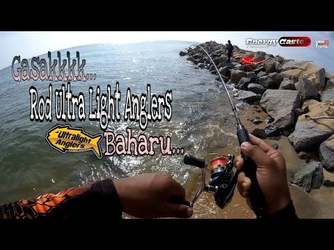Vlog16 - Keterujaan Gasak Rod Dari UltraLightAnglers - Solid Tip | Ultra Light Fishing