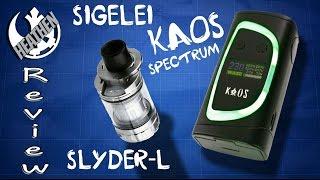 Better than TFV12/Alien? Sigelei Kaos Spectrum and Slyder-L Mega Tank I Heathen