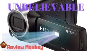 REVIEW: Go Pro Beater from Sony  - Built in PROJECTOR !! - SONY PJ 410 - Camcorder Sports Cam