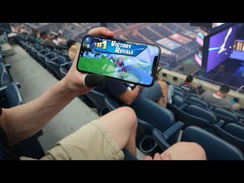 Winning A Game Of Fortnite Mobile At The World Cup!