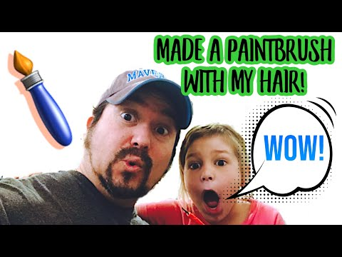 How to make a paintbrush [with human hair!]
