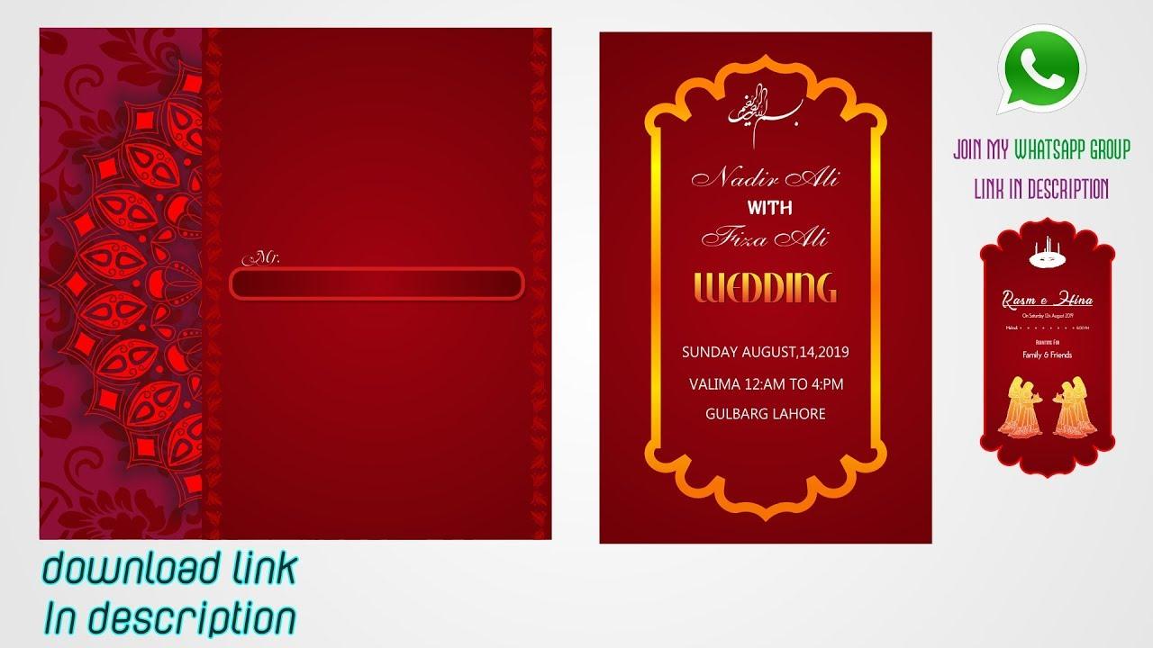 coreldraw tutorials  how to make wedding card design in