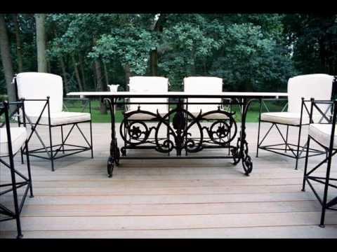 Classy elegant arredo da giardino in ferro battuto mobili for Mobili da giardino in ferro antichi