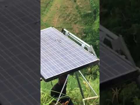 Solar power project: the terrain, repairs, personnel