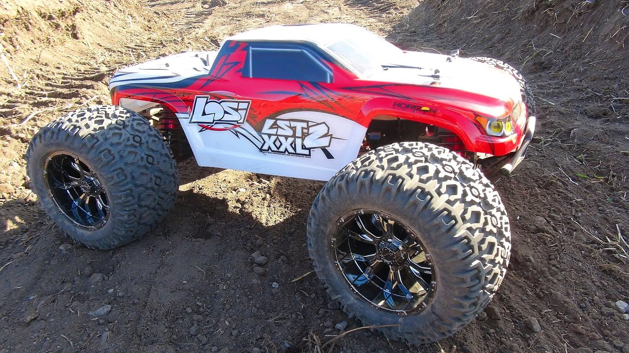 RC ADVENTURES Tuning & First Run of my Gas Powered Losi LST XXL2 1 8th Scale Monster Truck