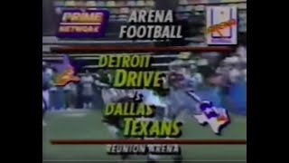 Arena Football - 1990 Season - Detroit Drive vs. Dallas Texans (COMPLETE GAME)