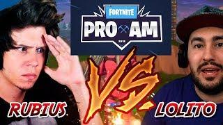 Lolito mata a ElRubius en la PRO AM - E3 | Fortnite battle royale