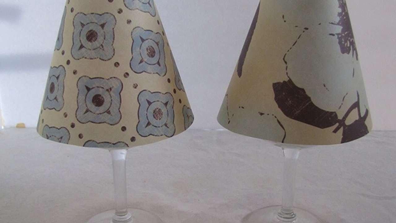 trasforma dei bicchieri per il vino in una lampada - fai da te ... - Paralume Con Bicchieri Di Carta