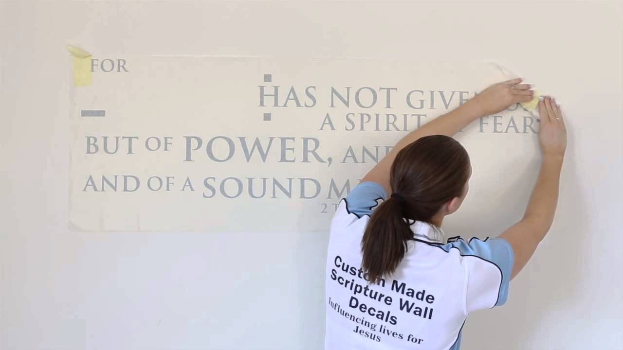 JC Decals Wall Decal Application Tutorial YouTube - Vinyl wall decal application youtube