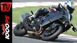 Test Kawasaki Ninja H2 - Rennstrecke 300km/h | Action, Sound, Fazit