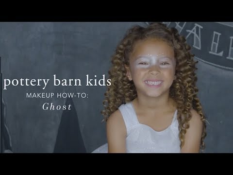 Easy Halloween Makeup Tutorial - Ghost Light Up Tutu for Pottery Barn Kids