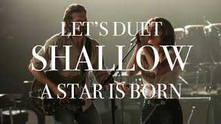 Sing with Me. Shallow Cover Bradley Cooper & Lady GaGa Karaoke w. Male Part Only Video