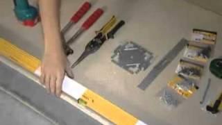 видео Установка гипсокартона своими руками