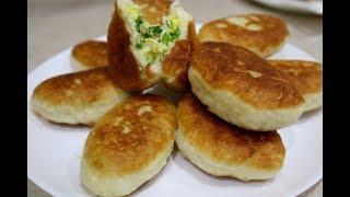 Пирожки с Зеленым Луком и Яйцом/Самое Вкусное Дрожжевое Тесто для Пирожков