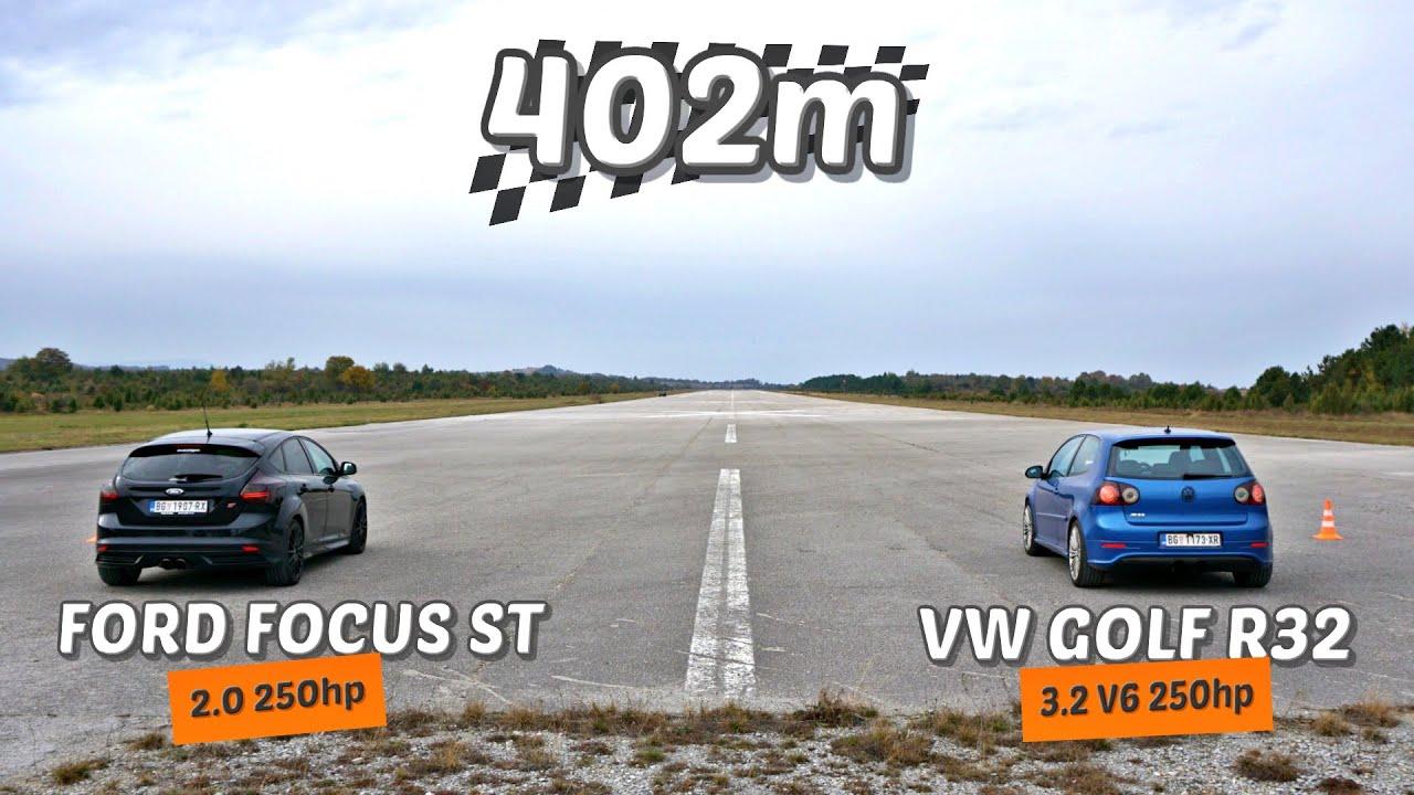 Download 402m: VW Golf 5 R32 vs Ford Focus ST