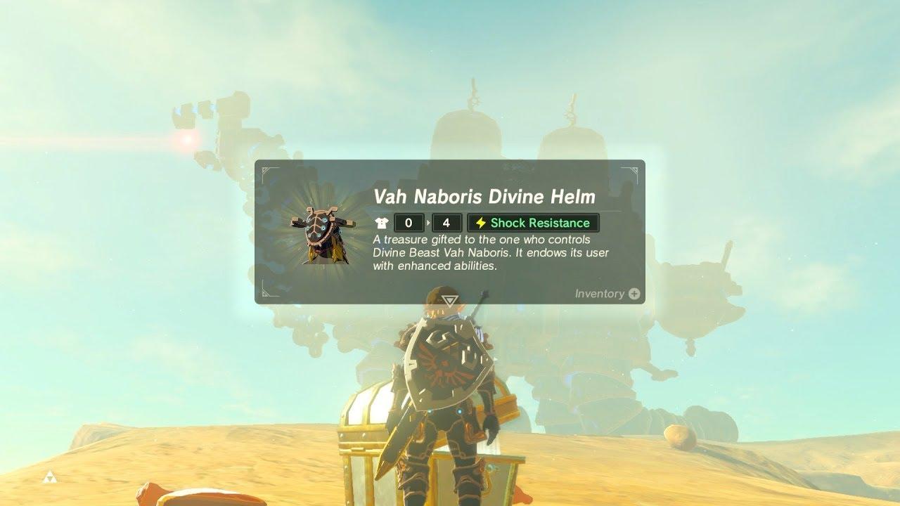 Breath Of The Wild Armor >> Zelda: BOTW (Vah Naboris Divine Helm, RNG Test) Urbosa Amiibo - YouTube
