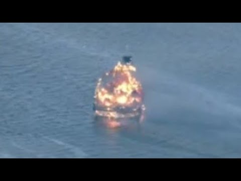 1 passenger in critical condition after casino shuttle boat catches fire in Port Richey