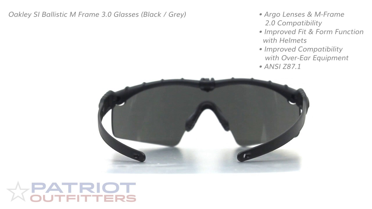 b7ab424f21 Oakley SI Ballistic M Frame 3.0 Glasses (Black - Grey) - YouTube