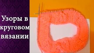 Круговое вязание (косичка по реглану)(Красивые листочки получаются после первого раппорта . Применяю на линии реглана---- накид ( перекрещенный..., 2017-02-05T09:47:28.000Z)