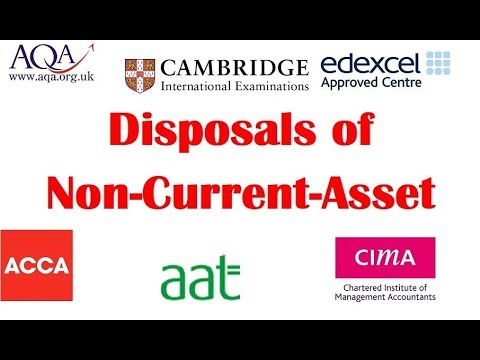 Disposals of Non Current Assets and part exchange