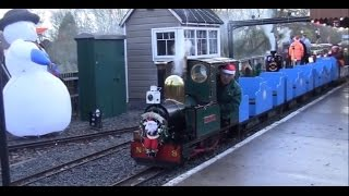 'santa Trains' At Echills Wood Railway - December 2014:
