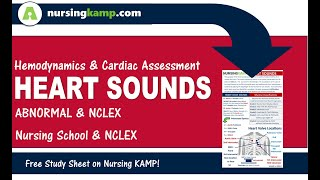 What are abnormal Heart Sounds S1 S2 S3 S4 GALLOP RUB Nursing KAMP NCLEX 2019