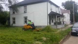 7 Feet Tall Grass being cut by the city of Dayton in East Dayton