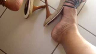 Shoeplay in Strappy Mules