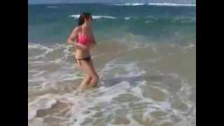 Amy Willerton bare it all in just bikini bottoms
