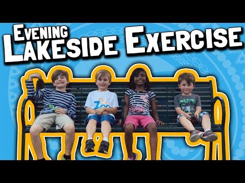 Evening Lakeside Exercise with the Kids (March 19, 2018)